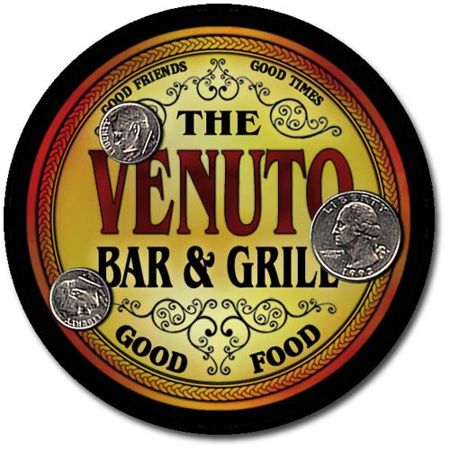 Venuto Family Bar and Grill Patriotic Rubber Drink Coaster Set