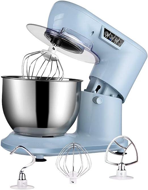 Aifeel Batidora Amasadora Reposteria, Robot de Cocina Multifuncion 1000W con tazón de 4 litros, varillas, gancho para amasar, batidor, protección contra salpicaduras, teclas de función LED: Amazon.es: Hogar