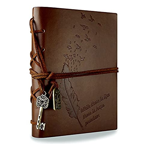 Foonii Vintage Retro Leather Cover Notebook Magic