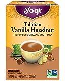 Yogi Tea, Tahitian Vanilla Hazelnut, 16 Count (Pack of 6), Packaging May Vary