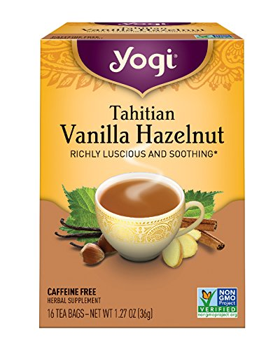 Yogi Tea, Tahitian Vanilla Hazelnut, 16 Count (Pack of 6), Packaging May (Hazelnut Eye)