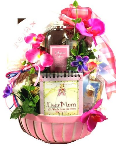 Dear Mom Spa and Gourmet -Women's Birthday, Holiday, or Mother's Day Gift Basket Idea