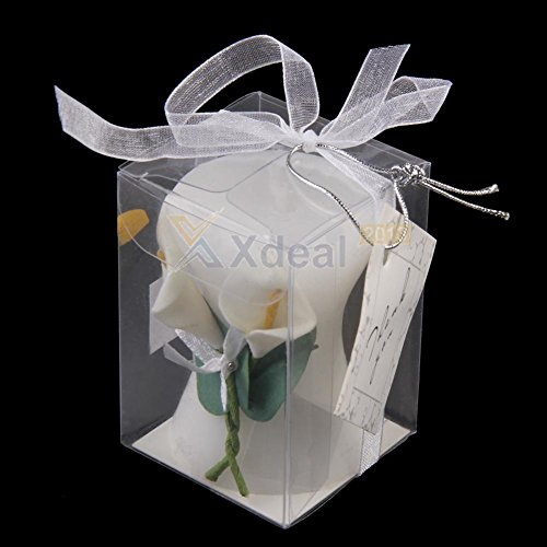 AMAZZANG-Calla Lily Elegance Vase Shaped Candle Wedding Bridal Shower Party Favor New (Calla Votive)