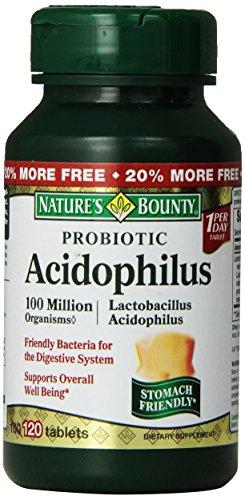 Bounty Probiotic Acidophilus de la nature, comprimés 100 comprimés