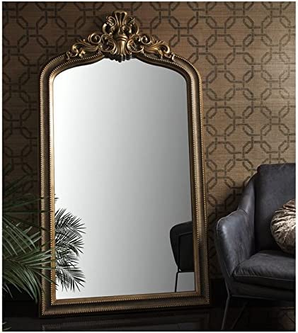 Josephine Large Crested Ornate Full Length Leaner Gold Wall Mirror 68 X 38 Amazon Co Uk Kitchen Home