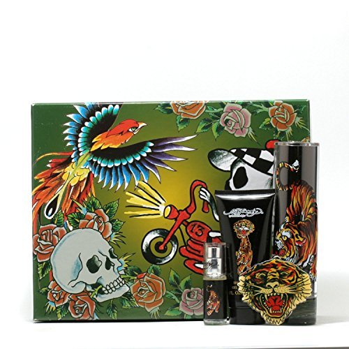 Ed Hardyfor Men - 34Sp/ 3Sg/Mini/ Keychain Set by Ed Hardy (Hardy Ed Keychain)