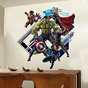 3D Wall Sticker Home Decor Avenger PVC Home Decal Suitable