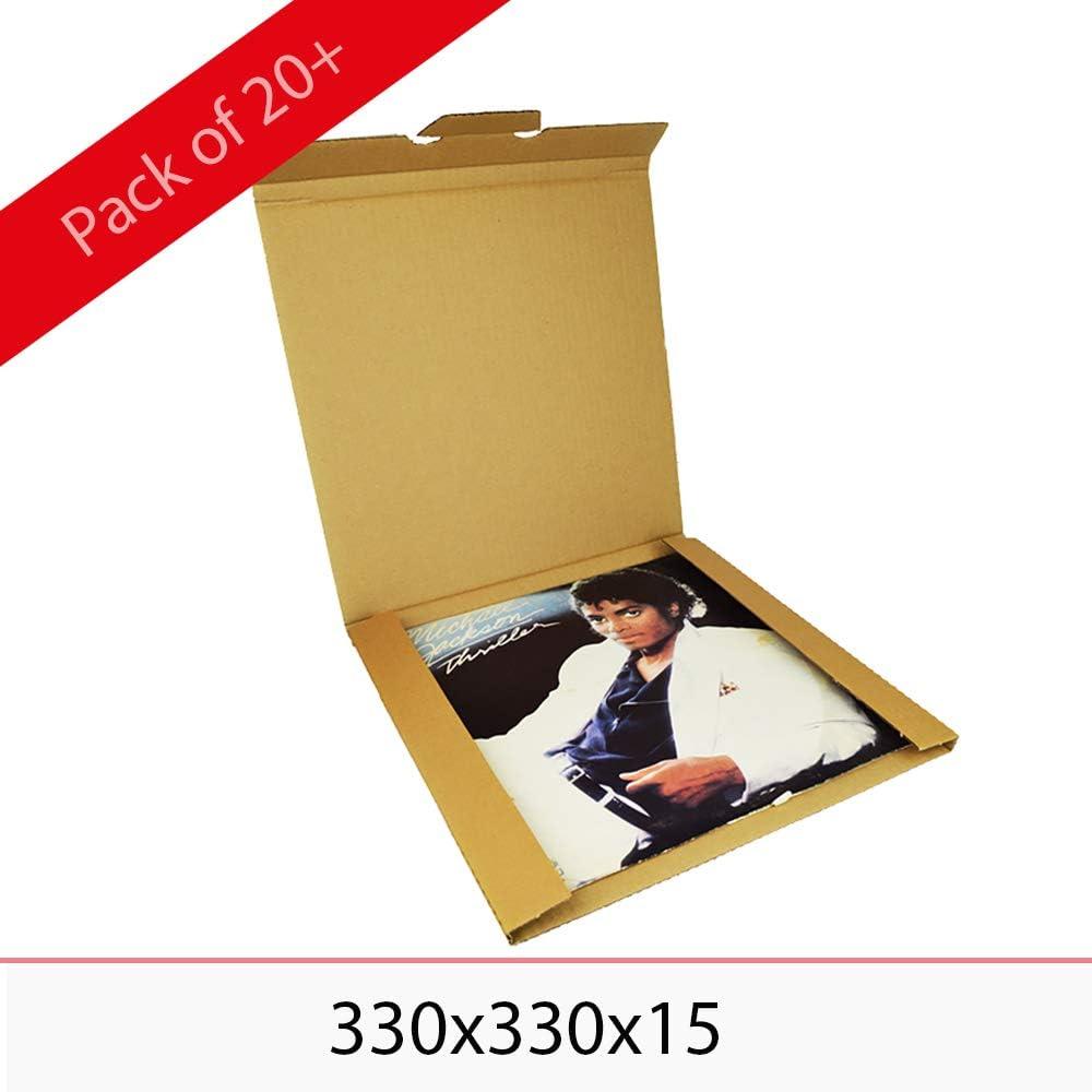 """100 LP Expédition Cartons 325x325x13 mm pour 1-3 Disques Vinyles 12 /"""" Pouces"""