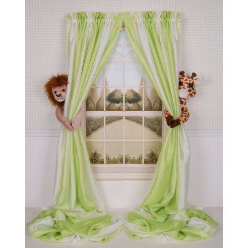 (Curtain Critters ALLNGF270510COL Plush Safari Lion and Giraffe Collector Set )