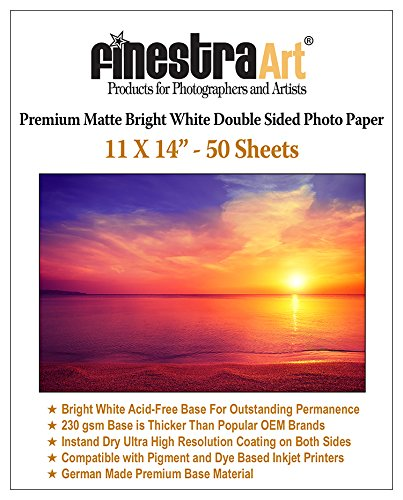 Matte Bright White Paper Inkjet (11x14