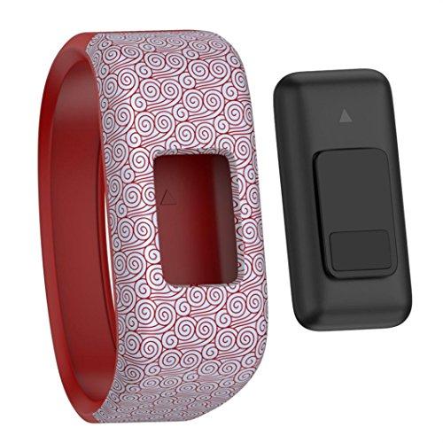Price comparison product image Outsta for Garmin vivofit JR Watch Band Wrist,  Replacement Wrist Band Silicon Strap Clasp Bracelet Accessories Smart Watch Band Children Women Men Strap Length: S:145mm L:170mm) (D,  S)