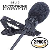 SoLID (TM) Lavalier Lapel Microphone 2 Pack