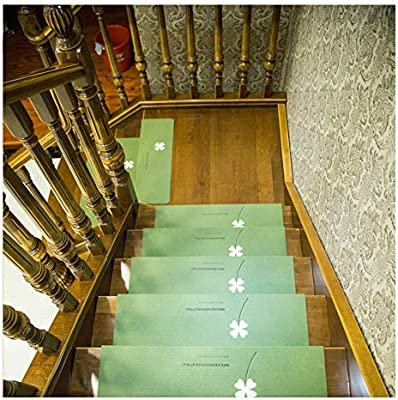 YXUD Alfombra Escalera, peldaños de escaleras Luminosos Alfombras con patrón de Pasto - Decoración para el hogar Autoadhesiva Antideslizante,Green,5pieces: Amazon.es: Hogar