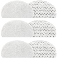 isinlive 6 Pack Steam Mop Pads Compatible Bissell 1940 1440 1544 Series Powerfresh Steam Mop Washable