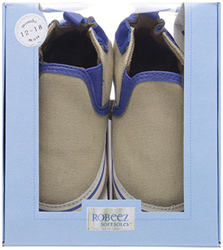Robeez Liam Soft Sole Crib Shoe (Infant), Taupe, 6-12 Months M US by Robeez (Image #7)
