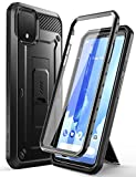 SupCase Unicorn Beetle Pro Series Case for Google Pixel 4 (2019 Release), Full-Body Rugged Holster Case with Built-in Screen Protector (Black)