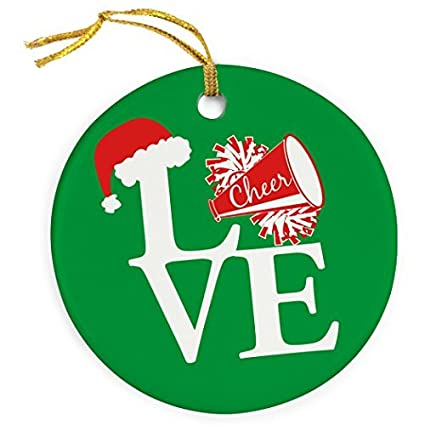 Venus50Lizz Love Cheerleading Christmas Ornament - Cheerleading Porcelain  Ornaments - Amazon.com: Venus50Lizz Love Cheerleading Christmas Ornament