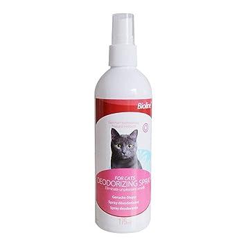 Rejoicing Spray Desodorante para Gatos con espray de Limpieza de Aire para Mascotas, esterilización,
