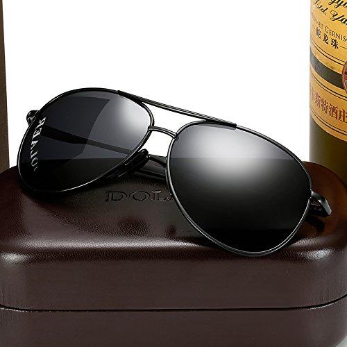 KOMNY sol blanco Gafas Black gafas mercurio de Plata hombres Black tendencias redondas ojos Macho Macho Frame Gray de sol enmarcado polarizador gafas conductor conducir gafas FH4Fvgrqw