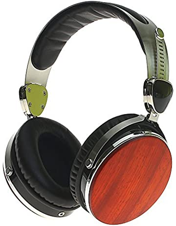 symphonized wraith 2 0 premium genuine wood over-ear headphones with  in-line microphone,