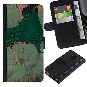 KingStore / Leather Etui en cuir / Samsung Galaxy S5 V SM-G900 / Deja la pintura de la acuarela Arte;