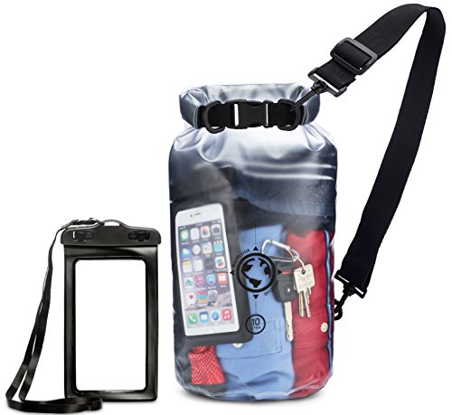 Earth Pak Waterproof Bag- 10L / 20L Sizes - Transparent Dry Bag So You Can See Your Gear - Keep Your Stuff Safe and Secure While at The Beach, Swimming, - Clear Pak Dry