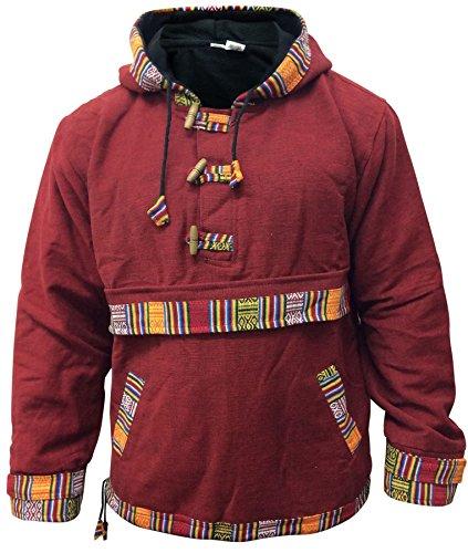Moda súpercálido Copiar grau Forro Capucha Shopoholic Con Completamente Pulóver Hippie Polar L afdYZwq