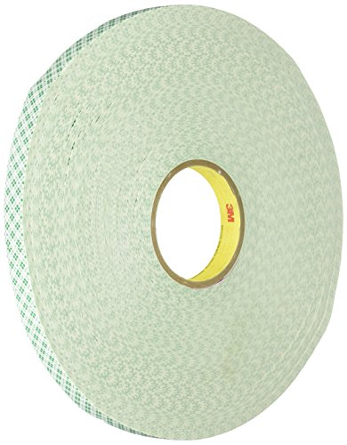 """3M 4032 Natural Polyurethane Double Coated Foam Tape, 0.75"""" Width x 72yd Length (1 roll)"""