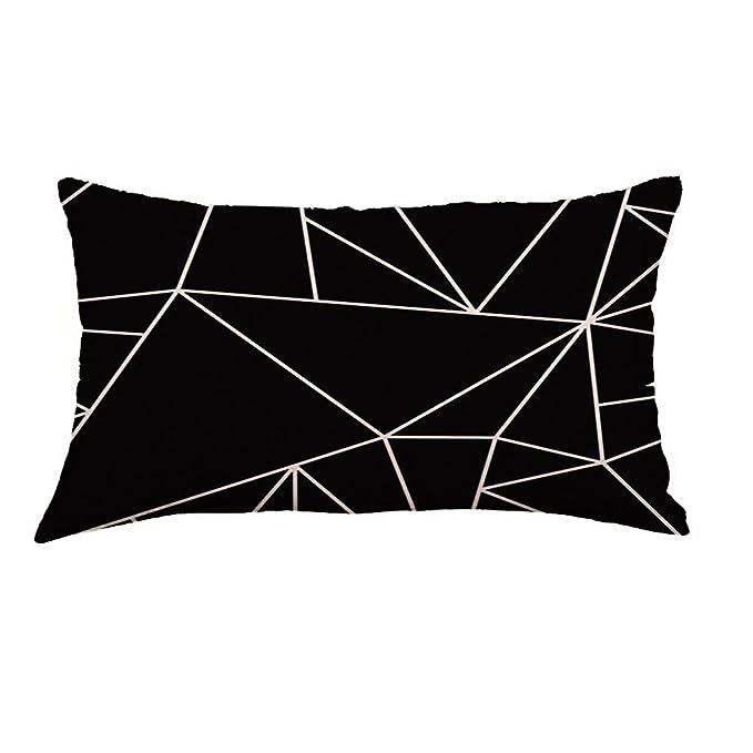 2019 Nuevo Elegante único geometría Pintura cojín de Lino ...