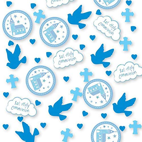 Amscan 9901891 14 G Communion Church Blue Confetti