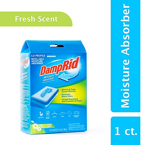 DampRid FG44 Lo-Profile Refillable Moisture Absorber, 10.5 oz, Fresh Scent