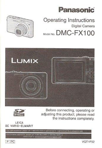 Panasonic Lumix DMC-FX100 Original Instruction Manual