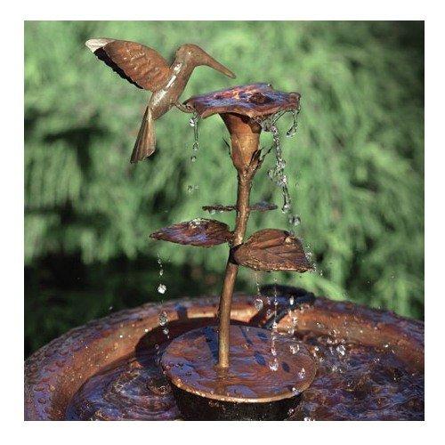 Ancient Graffiti Solid Copper Hummingbird Dripper Fountain