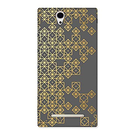 best loved 53b3a 871f6 Golden Diamond Box Back Case Cover for Sony Xperia C3: Amazon.in ...