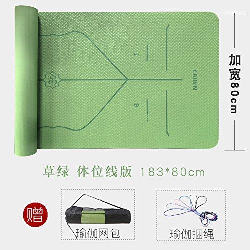 - YOOMAT Caoutchouc Naturel PU de Luxe Yoga Mat Turc est Bloc-Line Starter Anti-Slip de Lettrage Nom, 6Mm (démarrage), la Ligne d'orientation » vert Grass 80 W167765