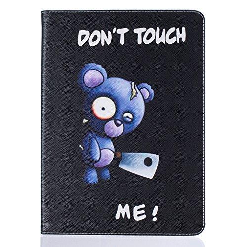 Trumpshop Smartphone Carcasa Funda Protección para Apple iPad Pro (9.7-Pulgadas) + Mariposas Doradas + PU Cuero Caja Protector Billetera Choque Absorción Dont Touch Me (Cuchillo)