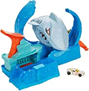 Pista Hot Wheels City Robô Tubarão, Multicolorido, GJL12, Mattel