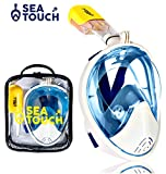 Snorkel Mask Full Face Premium Quality with Bag 180° Panoramic View Anti Fog Anti Leak Best for Adult Youth Diving Mask Go Pro Mount Full-face Easybreath Snorkel Set Snorkeling Gear
