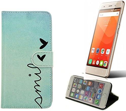 K-S-Trade 360° Funda Smartphone para Haier Leisure L56, Smile | Wallet Case Flip Cover Caja Bolsa Caso Monedero BookStyle: Amazon.es: Electrónica