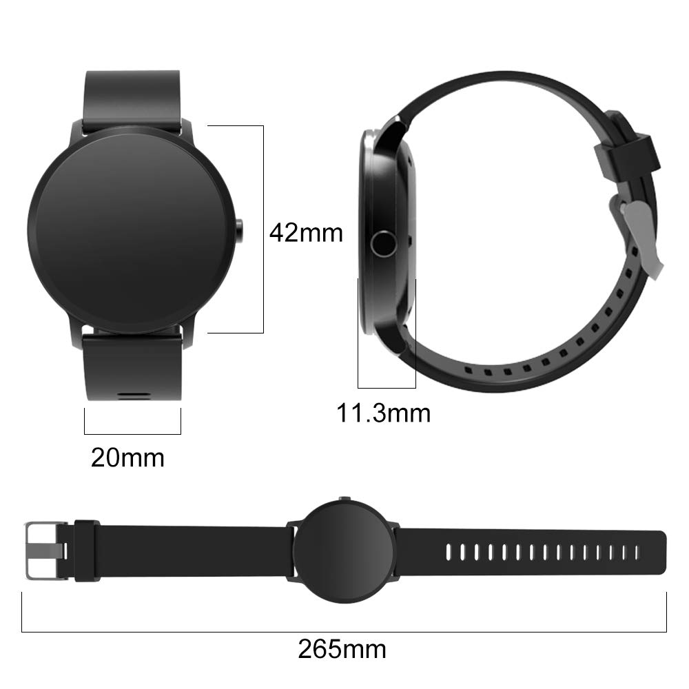YoYoFit Smart Fitness Watch with Heart Rate Monitor, Waterproof Fitness Activity Tracker Step Counter with Music Player Control, Customized Face Look GPS Pedometer Watch for Women Men, Black by YoYoFit (Image #4)