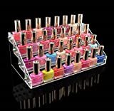 1 Rack Fascinating Popular Hot Nail Polish Organizer Acrylic Gift Travel Case Fashion Art Grids Color Transparent 4 Tier Style #05
