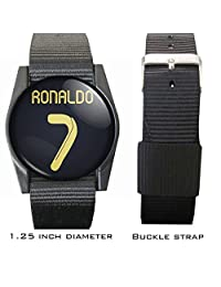 "Cristiano Ronaldo Soccer Jersey Wristband/bracelet 1.25"" Diameter"