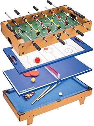 ゲームの表、1ゲーム表におけるマルチコンボ4、サッカーとのフーズボールテーブルホッケーテーブル、プールテーブル、ホーム用卓球、ゲームルーム屋内サッカーゲーム表