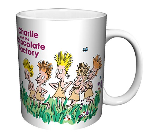 Roald Dahl Charlie And The Chocolate Factory I want an Oompa Loompa Children's Classic Literature Book Ceramic Gift Coffee Tea Cocoa Mug (11 OZ C-HANDLE CERAMIC MUG)]()