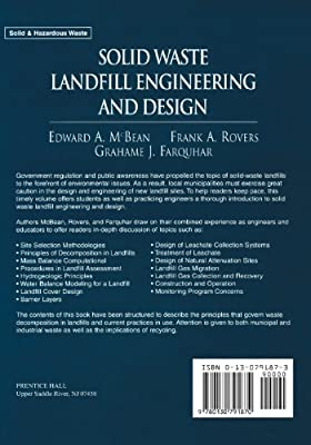 Solid Waste Landfill Engineering And Design Mcbean Edward A Rovers Frank A Farquhar Grahame J Amazon Sg Books