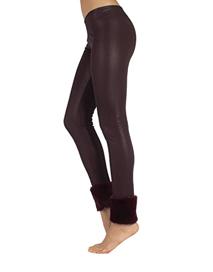 2d1b86b0478c76 Leather Leggings Woman | Thermo Faux Leather Leggings Fleece Lining and Fur  | Leather Pants with