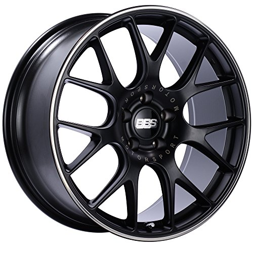 (BBS CH-R Black Wheel with Painted Finish and Polished Stainless Steel Rim (18 x 8. inches /5 x 120 mm, 40 mm Offset) )
