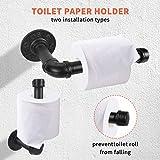 5 Pieces Industrial Pipe Bathroom Towel Holder