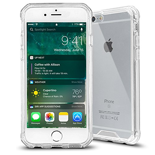 iPhone 6s Case,Baesan Armor Transparent Clear TPU Frame Shockproof Protective Case Scratch Resistant Fit Thin and Slim PC Hard Panel for Apple iPhone 6/6s (4.7)(2016) - Clear