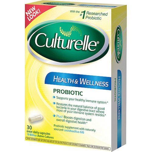 Culturelle Probiotic Health & Wellness 30 Once Daily Capsules (Pack of 3) by Culturelle